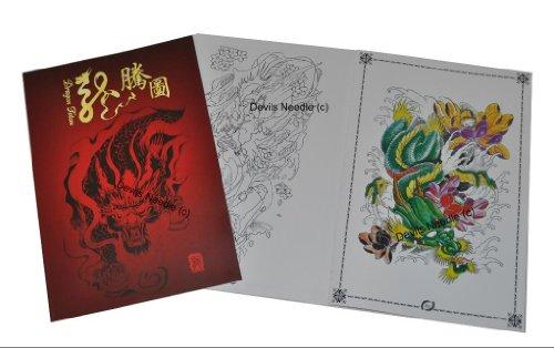 Tattoo flash book a3dragon totem design