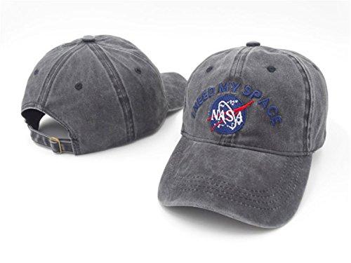 NASA I NEED MY SPACE Unisex Cotton Hats Adjustable Peaked Cap Black 1 One Size