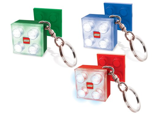 Lego 2 X 2 LED Keylight Portachiavi with Mounting - Assorted Colors