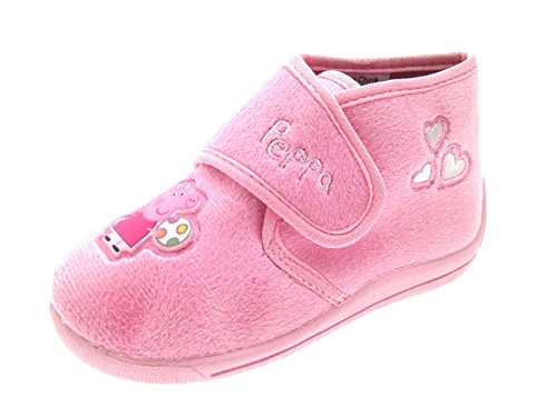 Kids Girls Peppa Pig Novelty Slippers Fleece Character Boots Gift Size UK 7