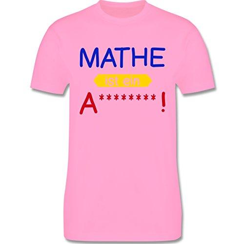 Sprüche - Mathe ist ein A - Herren Premium T-Shirt Rosa