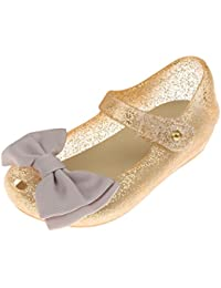 Sandalias De Verano Zapato De Lluvia Zapatos De Playa Zapatos De Jalea Del Arco Para Muchacha Niñas