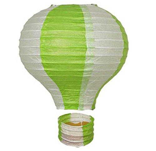(Black Temptation Geburtstagsparty/Weihnachten/Ostern/Mall Dekoration hängen Papier Laterne Heißluftballon 25cm(Grün))
