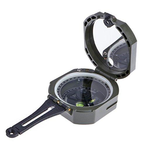 Suweqi Geologischer Kompass - Hochpräzise Magnettasche Transit Geologischen Kompass Skala 0-360 Grad
