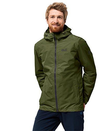 Jack Wolfskin Herren Chilly Morning Men Winterwanderjacke Wasserdicht Winddicht Atmungsaktiv Wetterschutzjacke, Cypress grün, XL