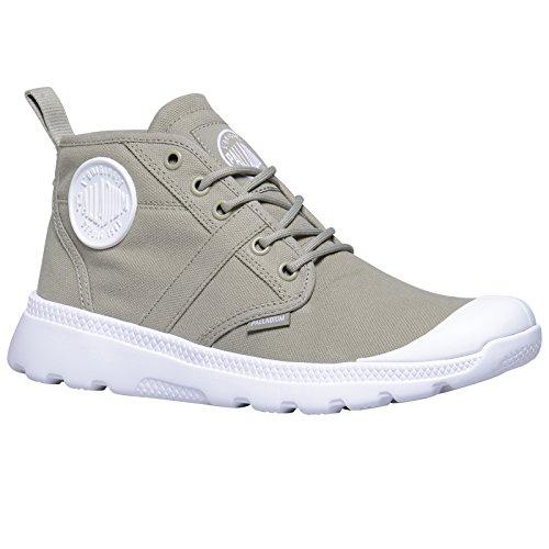 Palladium Unisex-Erwachsene Pallaville Hi Deux Sneaker Metal/White/White - Grey