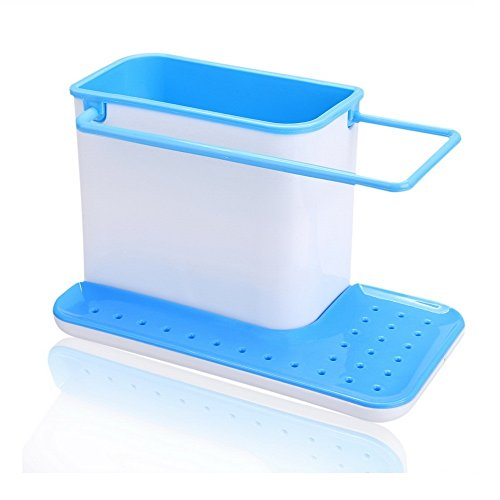 Inovera 3 in 1 Kitchen Self Draining Sink Stand For Sponge Brush Organiser, Sky Blue  available at amazon for Rs.249