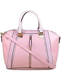 Hopping Street Pink Faux Leather Women Handbag