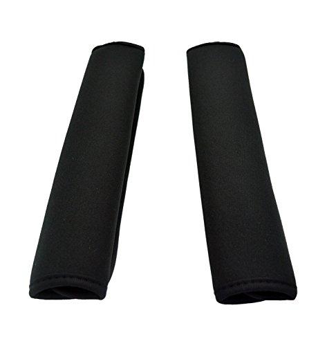 Case Wonder 1 Paar 2 Schwarz Mehrzweck Komfort Schulterpolster Schultergurt Pads für Laptop / Messenger / Boxen / Reisetasche / Auto Sicherheitsgurte Schützen Pads