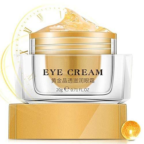 Cocohot Gold Augencreme, Hyaluronsäure Serum Augencreme Feuchtigkeitsspendend Anti Aging, Anti-Augenringe Anti-Falten Straffendes Augen Serum -