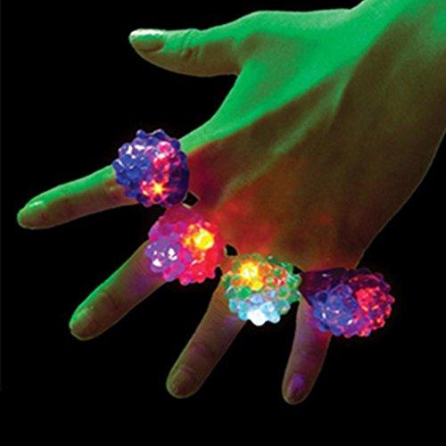 2017Neueste dikewang 18pcs Halloween Toys LED Gummi Ringe für kleine Geschenke Jelly Bubble Light Up Finger Spielzeug (Pack von (Flyer Kostüm Halloween Party)
