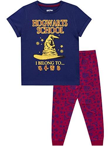 Harry Potter Pijamas Manga Corta niñas Hogwarts Azul