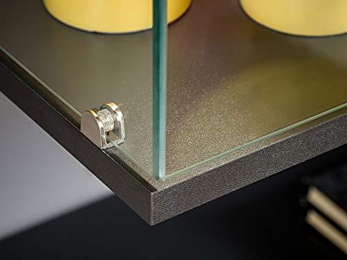 Wohnwand – Graue, elegante Anbauwand mit LED Bild 6*