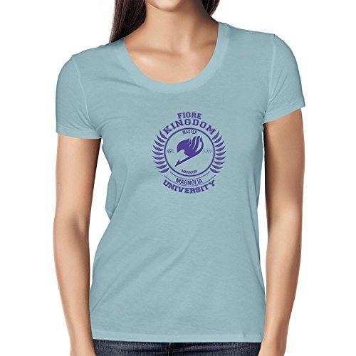 TEXLAB - Fiore Kingdom - Damen T-Shirt, Größe XL, hellblau