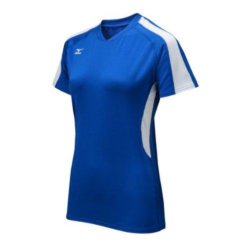 Mizuno Techno Volley IV Damen Trikot Kurzarm, Damen, Royal/Weiß, XX-Large (Mizuno Trikot Volleyball)
