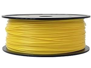 Firstcom PLA Filament (1kg Rolle) für 3D Drucker MakerBot RepRap Ultimaker u.v.m (1.75mm, gelb)