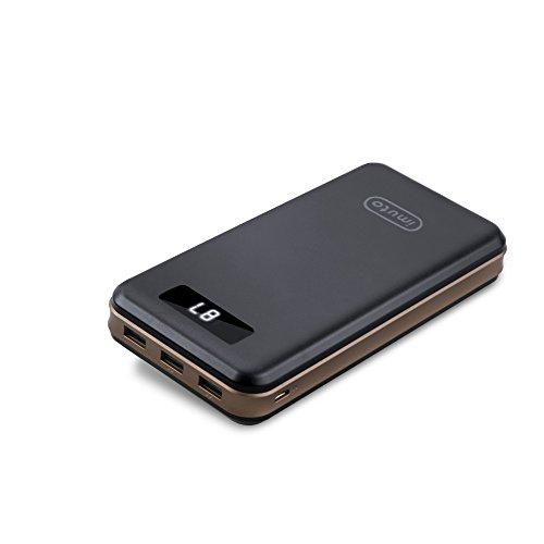iMuto Power Bank 30000mAh Ultra Alta Capacità Caricabatterie Portatile Batteria Esterna con 3 Porte USB di Uscita(3.4A max per Porta), Batteria Portatile per iPhone X 10 8 7 6 Plus, 6S, iPad, Nintendo Switch, Samsung Galaxy S7 Edge, note 8,Smartphone Tablets e Più - Nero (Versione Aggiornata)