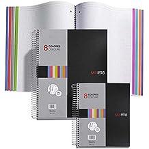 Miquel Rius 42006 - Cuaderno A4, cuadrícula 5 mm, 200 hojas, 70 g, polipropileno, color negro