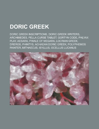 Doric Greek: Phlyax Play, Locrian Greek, Achaean Doric Greek, Macistus, Stasimon,