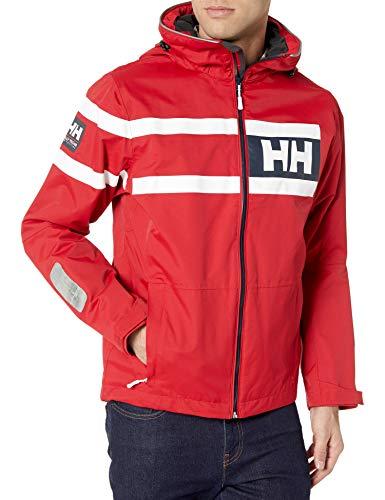 Helly Hansen Salt Power Chaqueta, Hombre, Rojo Rojo, 2XL