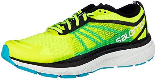 Salomon Sonic RA, Zapatillas de Trail Running para Hombre, Amarillo (Safety Yellow/Black/Bluebird 000), 44 EU