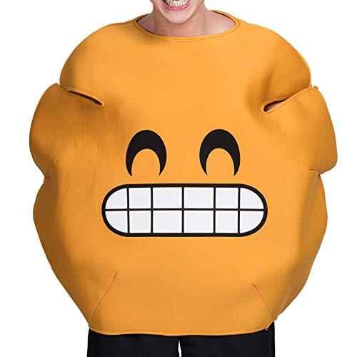 üme, Kürbis Smiley Grinsend Emoticon Rave Party Cosplay Spielen Prop Kleidung,A ()