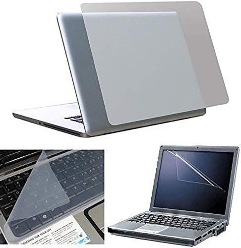 Fedus 3in1 Laptop Accessories Combo Transparent Laptop Skin, Screen Guard, Keyboard Skin for 15.6 Laptop
