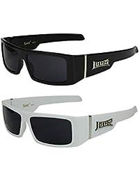 2er Pack Locs 9058 X03 Sonnenbrillen Motorradbrille Sportbrille Radbrille in den Farben schwarz und weiß