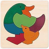 Hape - Puzzle encajable infantil arcoíris Pato (Barrutoys E6501)