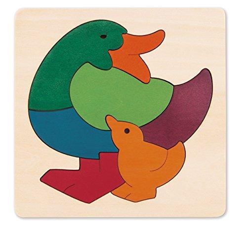 Hape- Puzzle encajable Infantil arcoíris Pato (Barrutoys E6501)
