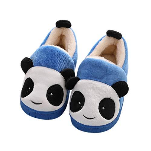 Pantofole ragazze inverno pantofole ragazzi warm scarpe di cotone slipper antiscivolo scarpe bambine invernali caldo casa pattini per donne blu 21-22 eu (produttore : 14-15)