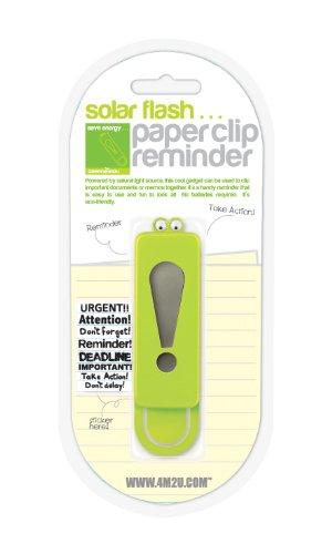 Preisvergleich Produktbild 4M2U Solar Flash Paper Clip Reminder