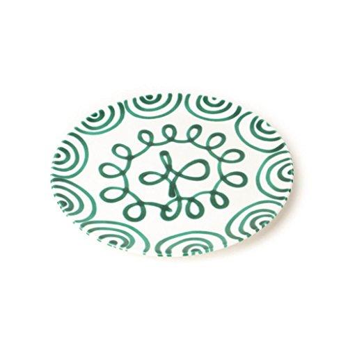 Gmundner Keramik Manufaktur 0100TFCU25 grüngeflammt Speiseteller Cup, Durchmesser 25 cm