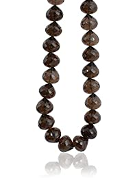 Smoky Quartz Straight Drilled Faceted Onion Beads Nacklace With Handmade Tassels, Smoky Brown Color, Wholesale...