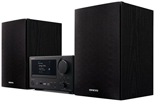 Onkyo CS-N575D(BB) Multiroom CD Hifi System (CD Player, Lautsprecher, WLAN, Bluetooth, Streaming, Musik Apps, Spotify, Tidal, Deezer, Radio/DAB+, 2 x 20 W Ausgangsleistung), Schwarz (Billig Home-stereo-system,)