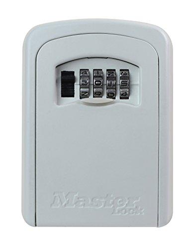 MASTER LOCK Caja fuerte para llaves [Mediana] [Montaje mural] [Blanco] - 5401EURDCRM - Caja de seguridad
