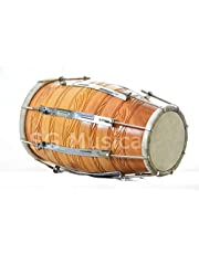 SG Musical Classical Dholak Nut/Bolt Wooden Tuned Dholki Use with Marriage-Festival (Natural)
