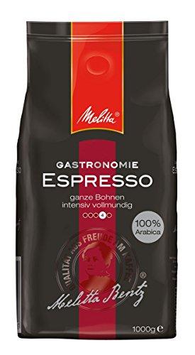 Melitta Espresso, Ganze Kaffeebohnen, 100 % Arabica, Kräftig würzig, Intensiv und ausgewogen, Kräftiger Röstgrad, 1 kg