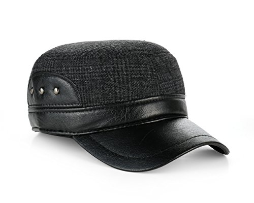 Military Style Trapper Dog Ear Flat Top Baseball Cap (Dog Ear Cap)