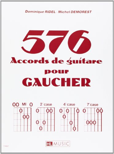 576 accords de guitare pour gaucher par Dominique Ridel