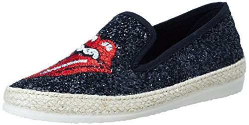 I love candies Damen Glitter Slipper Schwarz (Black)