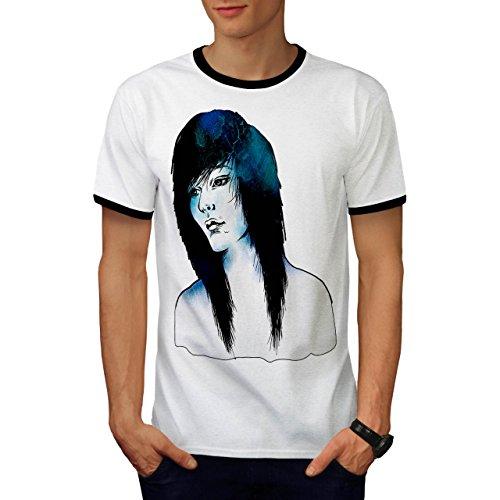 emo Modisch Entwurf Mode Mystiker Mädchen Herren M Ringer T-shirt | (Perücken Billig Emo)
