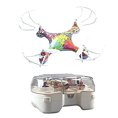 Kobwa Mini Rainbow Drone, 4-Axis Design with Gyroscope Smart Control for Stability, Colourful LED 6-minutes Flight 50-meters Range from KOBWA