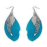 Fashion, orecchini d'argento, brillanti, di cristallo a forma di cuore, con gancio, per donne e ragazze