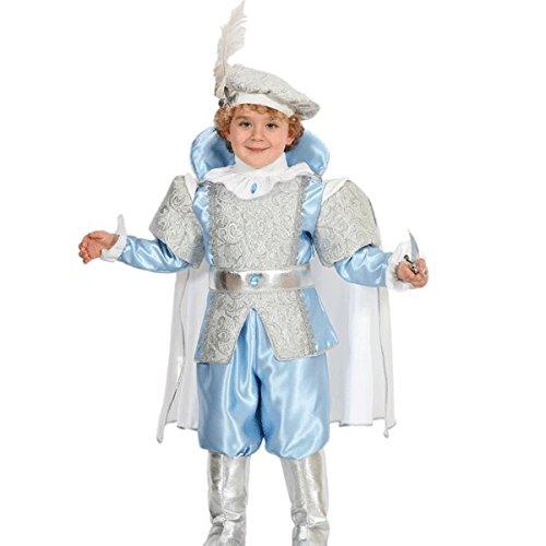 VESTITO COSTUME Maschera di CARNEVALE baby - PRINCIPE AZZURRO - Taglia 3/4 anni - 78 cm
