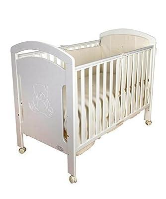 Cuna para bebé, modelo osito. De regalo el colchón, edredón y protector