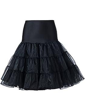 Butterme mujeres 50s Vintage Rockabilly enaguas Tutu Falda Vestido miriñaque underskirts