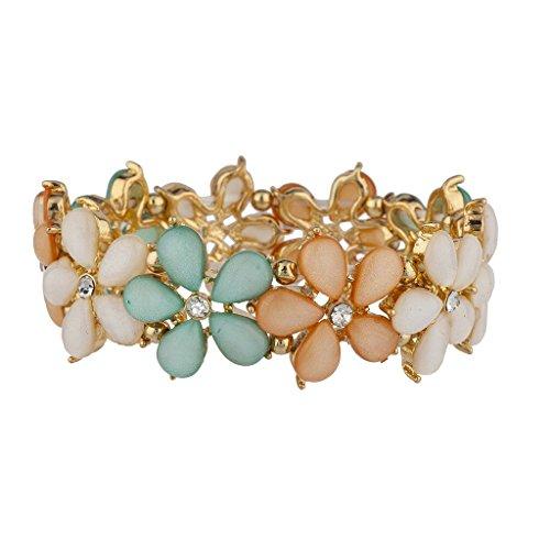 Lux accessori sfumature di primavera fiore braccialetto elastico
