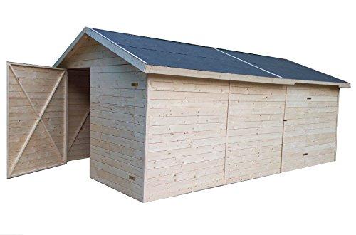 cadema Garage en bois 3,3 x 4,8 m (19 mm)