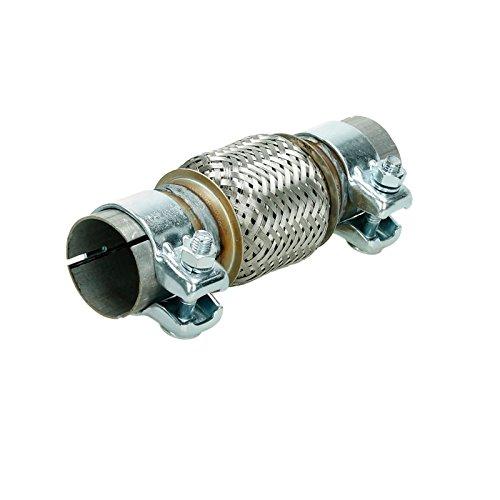 Preisvergleich Produktbild ECD Germany Universal Flexrohr Edelstahl Interlock 50 x 100 mm mit 2 Schellen Montage ohne Schweißen Flexstück Wellrohr Hosenrohr flexibles Rohr